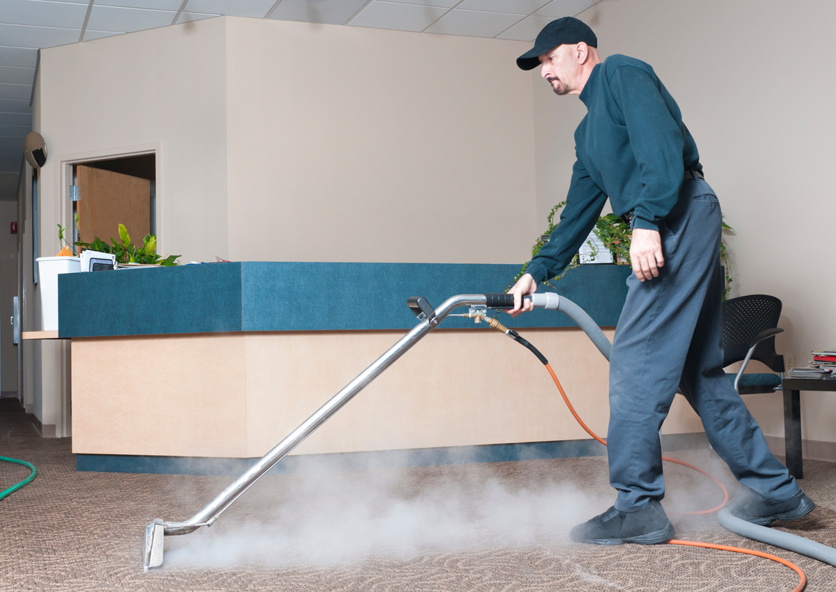 deep cleaning a carpet and sanitizing carpet to ensure cleanliness.